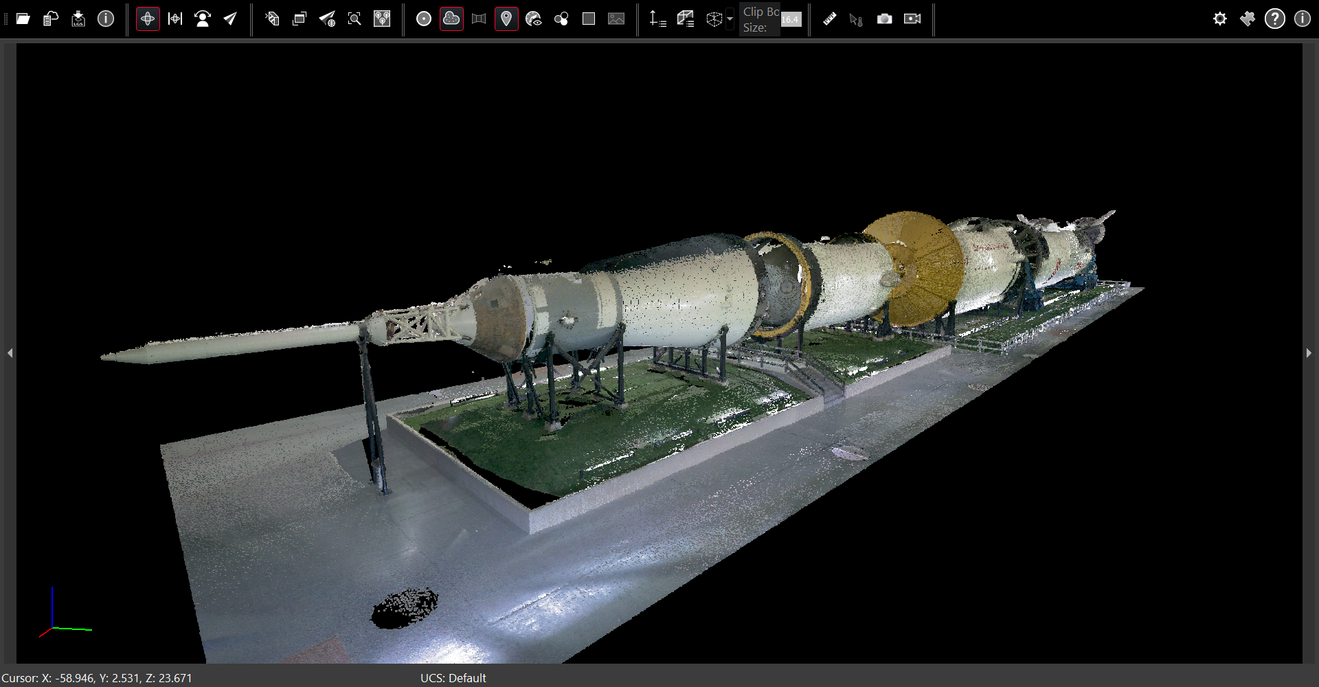 Saturn rocket point cloud