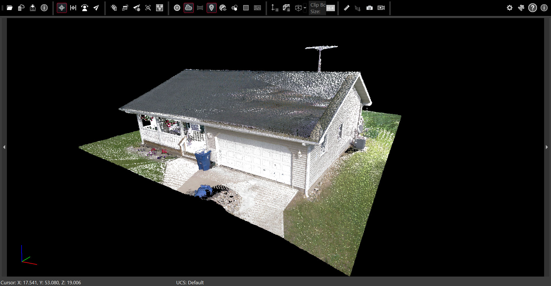 Stewart House Jetstream point cloud