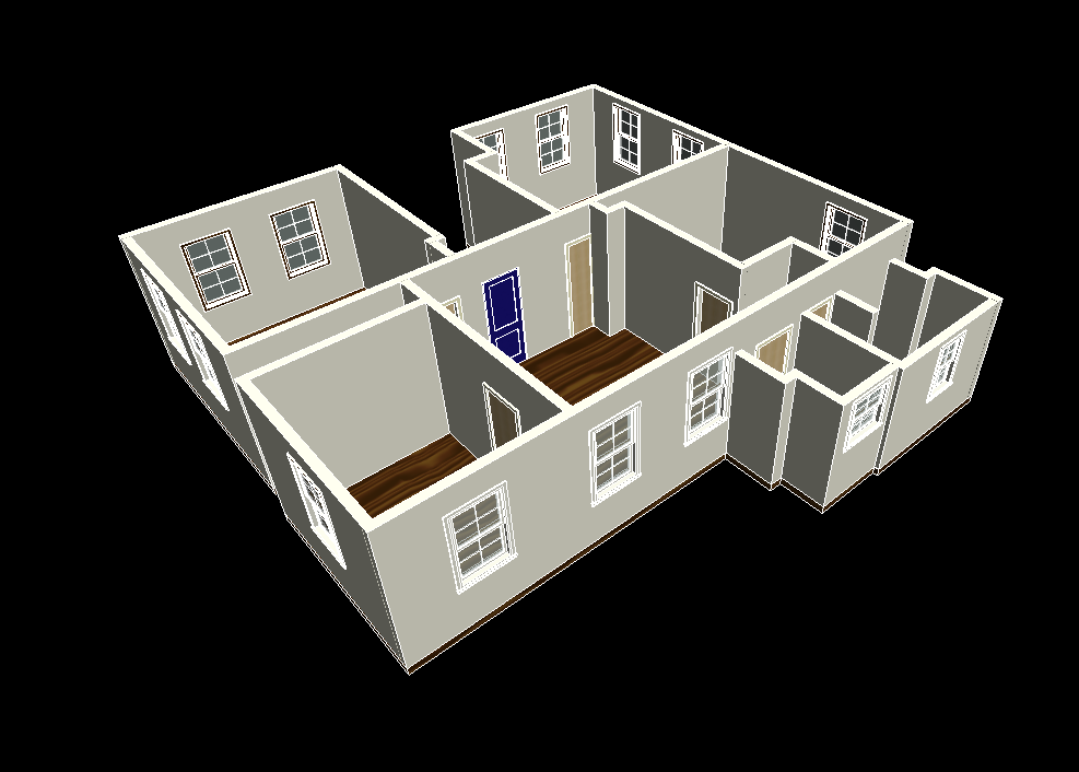 BIM model of home interior taken with BLK2GO