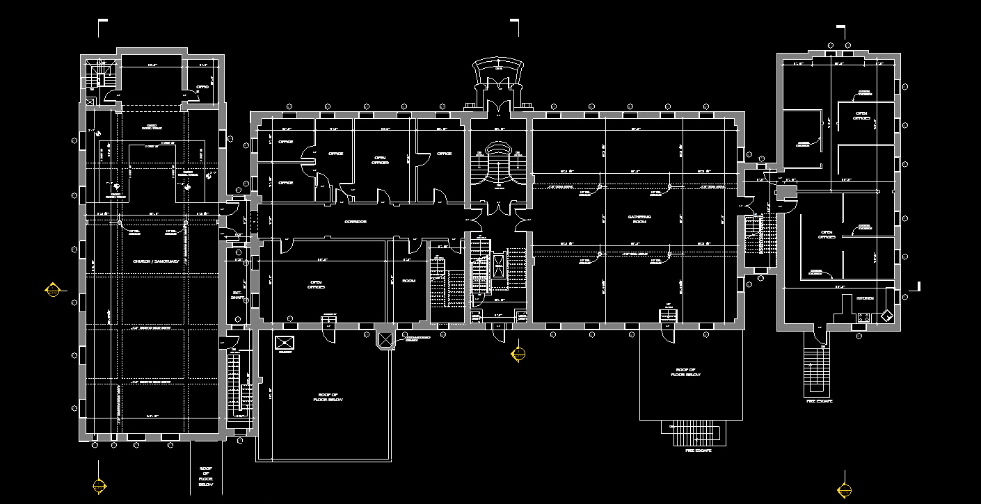 Floorplan of building in Revit