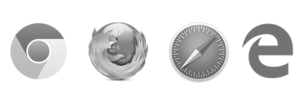 web browser icons B&W