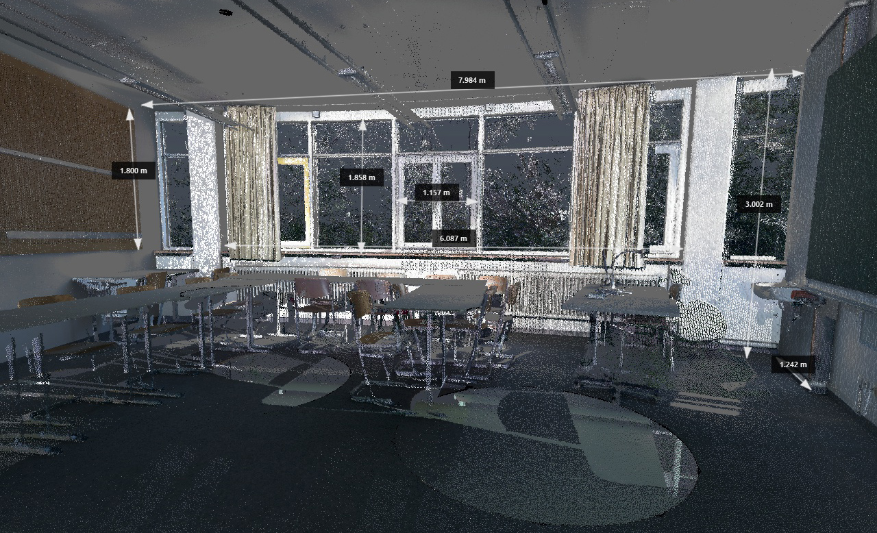 Classroom Point Cloud Scan