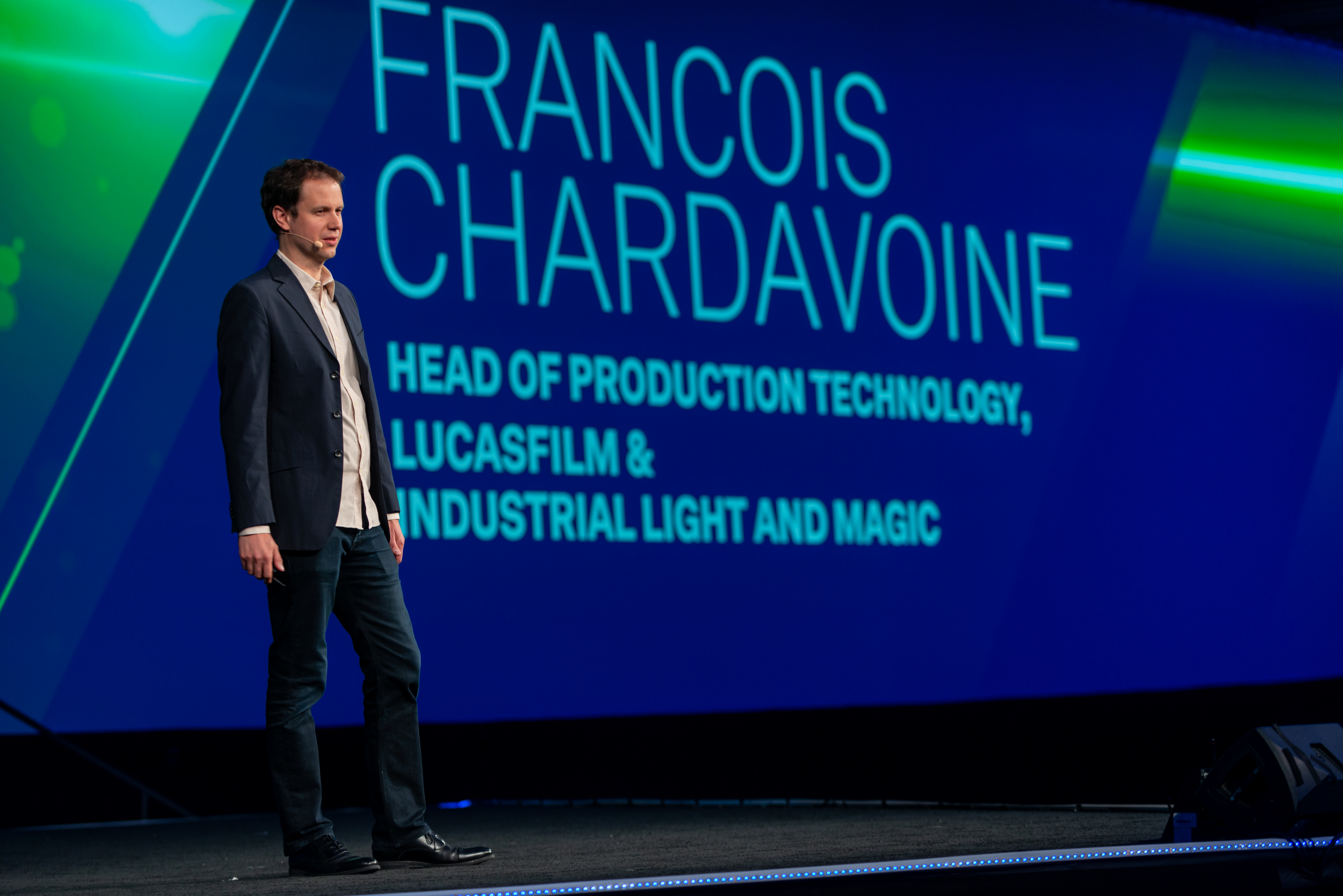 Francois Chardavoine gives a Keynote presentation at HxGN Live 2019 in Las Vegas