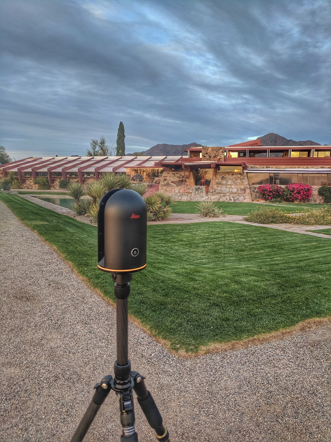Le Leica BLK360 capture Taliesin West.