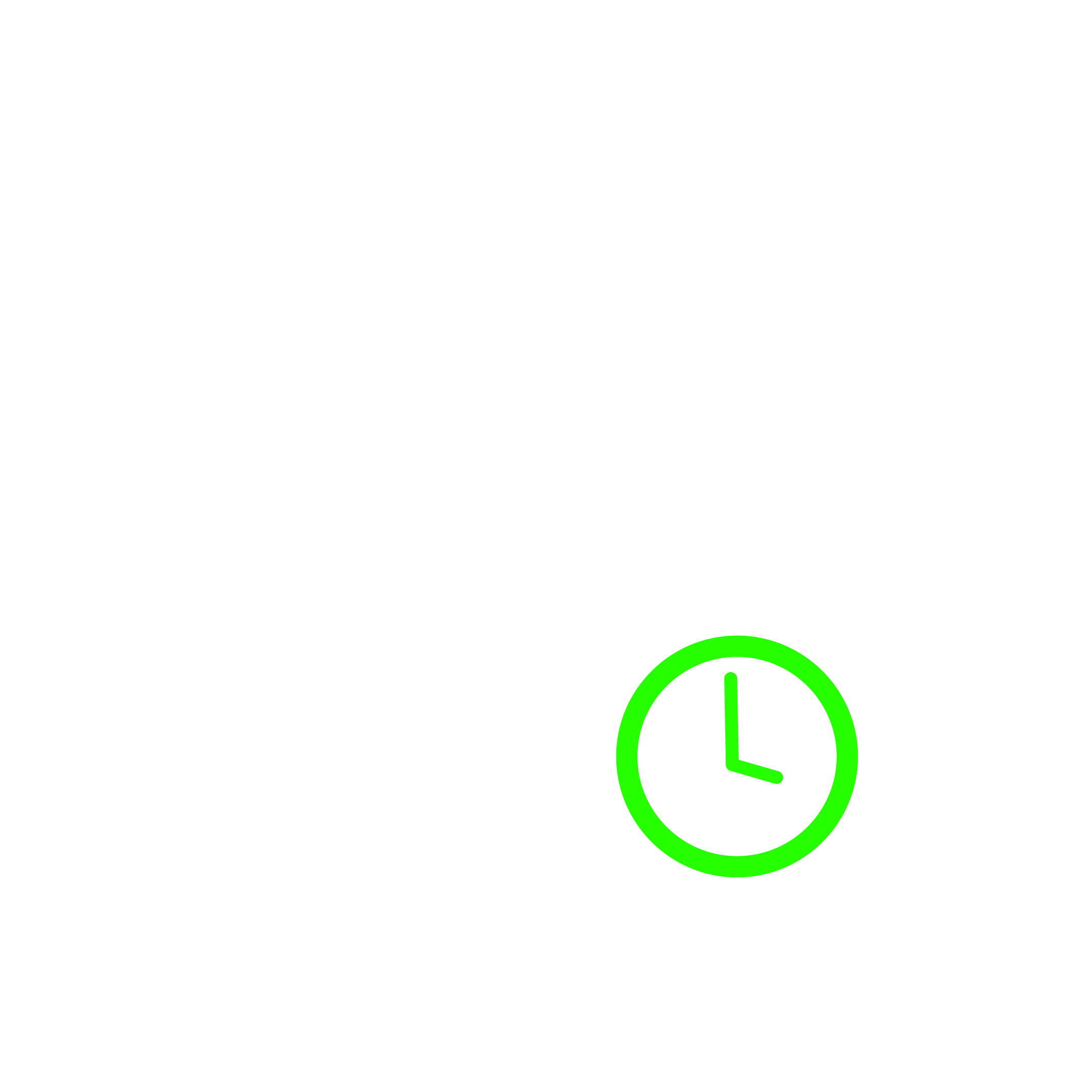 time and date vector icon