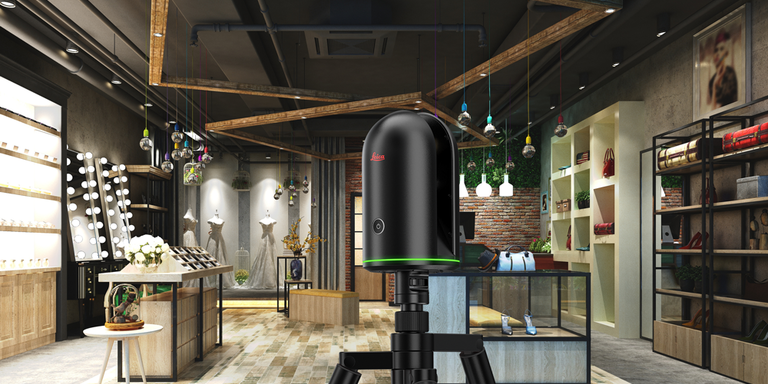 Leica BLK360 in a retail space