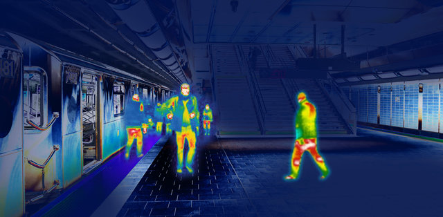 BLK247 Thermal footage of subway station