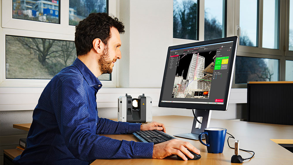 man using reality capture software