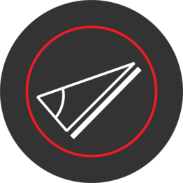 sloped objects icon