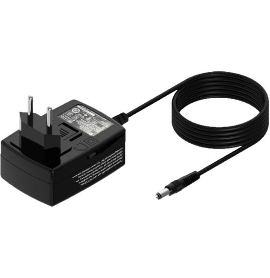 GEV192-9 Black line AC/DC adapter, with changeable plug adapter