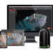 Leica BLK360 with Software on a Tablet, Phone, and Monitor