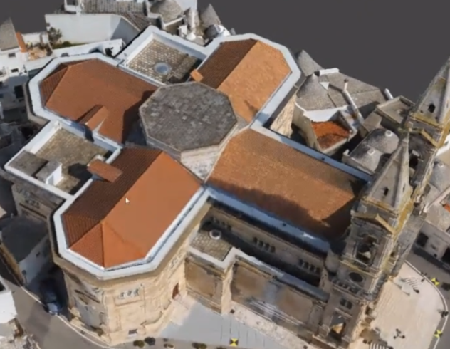 Drone survey of the Basilica Santi Medici in Alberobello, Italy